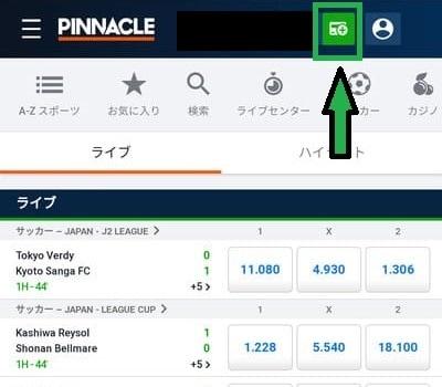 ピナクル入金方法04-1