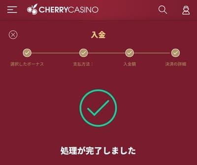 チェリーカジノの入金方法08