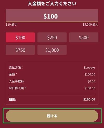 チェリーカジノの入金方法09